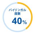 バイリンガル度数40%