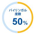 バイリンガル度数50%